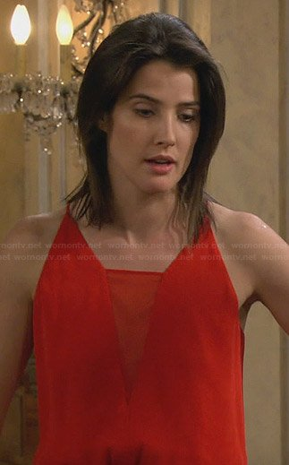 Robin's red gown on How I Met Your Mother
