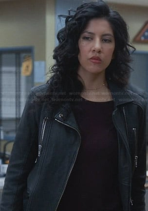 Rosa's leather jacket on Brooklyn 99