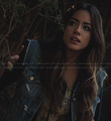 Skye's denim vest on Agents of SHIELD