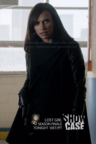 Tess's leather sleeve coat on BATB