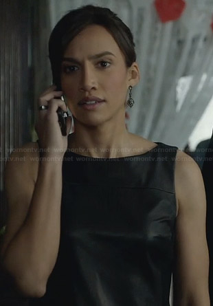 Tess's leather fringe dress on BATB