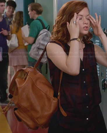 Tessa's leather backpack on Suburgatory