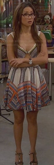 Veronica's tribal aztec keyhole dress on Dads