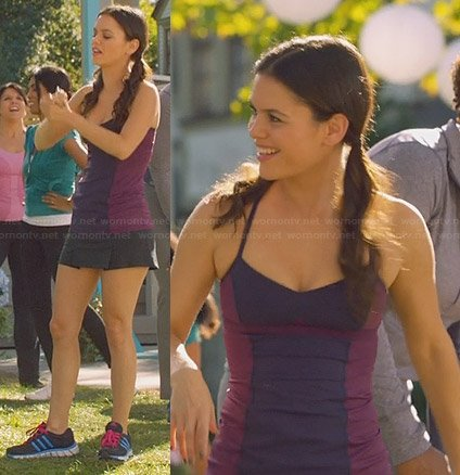 Zoe's purple training tank top and Adidas sneakers on Hart of Dixie