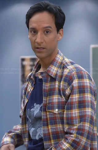 Abed's blue anteater tee on Community