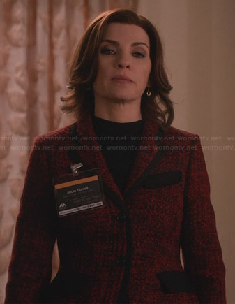 Alicia's red tweed jacket on The Good Wife