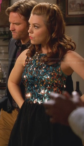 AnnaBeth's blue and black sequin dress on Hart of Dixie