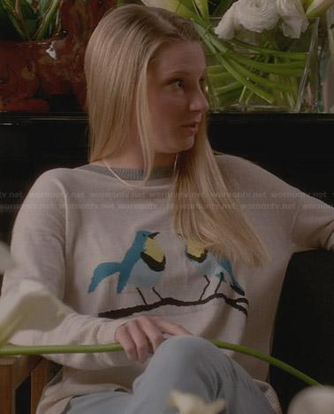 Brittany's bird sweater on Glee