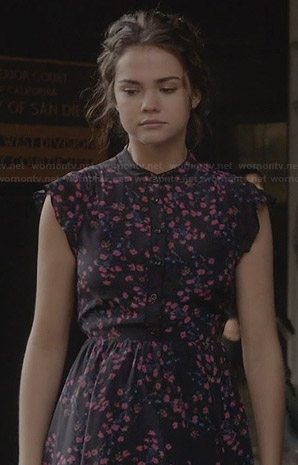 Callie's blue and pink floral dress on The Fosters