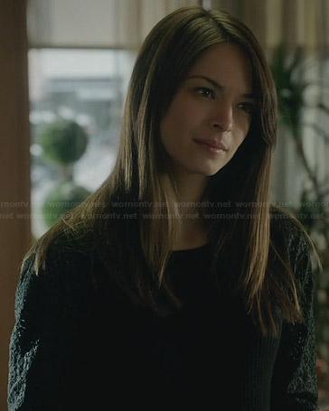 Cat's black lace sleeve sweater on BATB