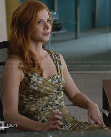 Donna's yellow floral dress on Suits