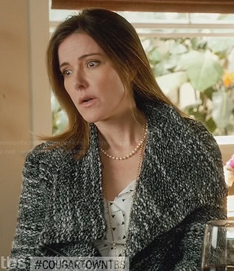 Ellie's grey tweed jacket on Cougar Town