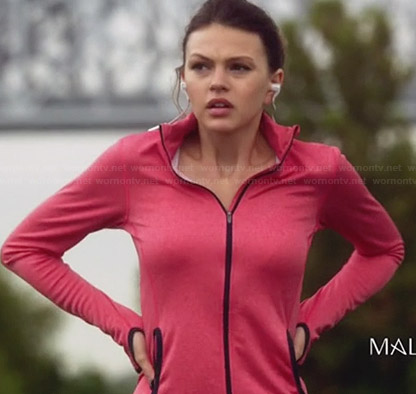 Emery's pink running jacket on Star-Crossed