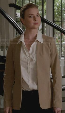 Emily's beige blazer on Revenge