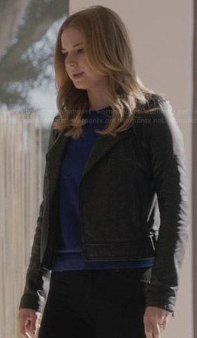 Emily's black leather jacket on Revenge