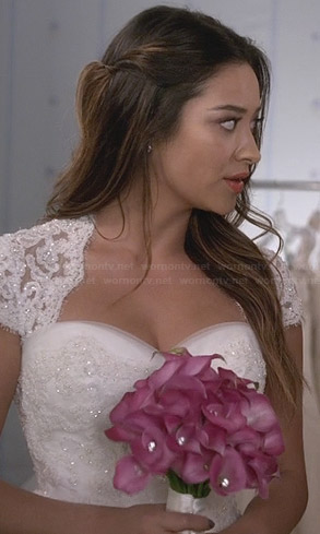 Emily's wedding gown on PLL