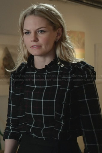 Emma's plaid shirt with ruffles on OUAT