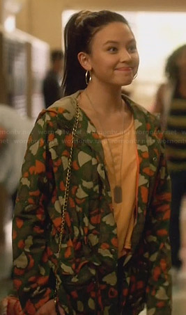 Julia's heart camo jacket on Star Crossed