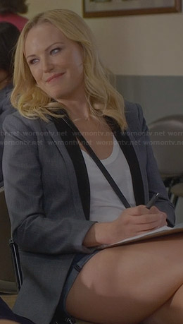 Kates Grey Black collar blazer on Trophy Wife