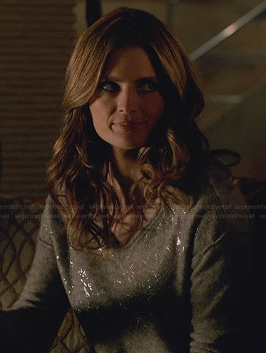 Kate's silver sweater on Castle