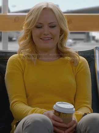 Kate's yellow sweater on Trophy Wife