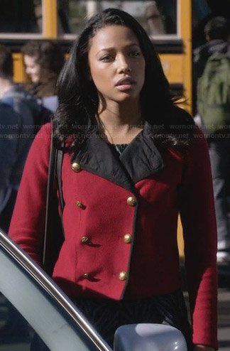 Lacey's red military coat on Twisted
