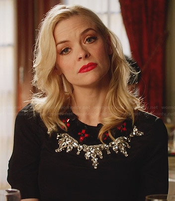 Lemon's black and red crystal embellished dress on Hart of Dixie