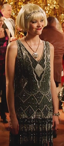 Lemon's grey beaded flapper dress on Hart of Dixie