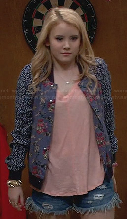Lennox's mixed print floral jacket on Melissa & Joey
