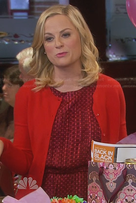 Leslie's red polka dot dress on Parks & Rec