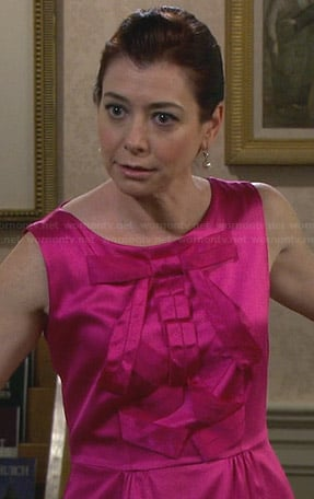 Lily's pink bridesmaid dress on HIMYM