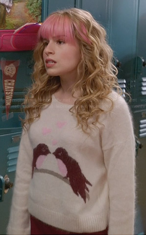 Lisa's love birds sweater on Suburgatory
