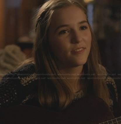 Maddie's striped knit sweater on Nashville