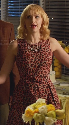 Magnolia's pink leopard print dress on Hart of Dixie