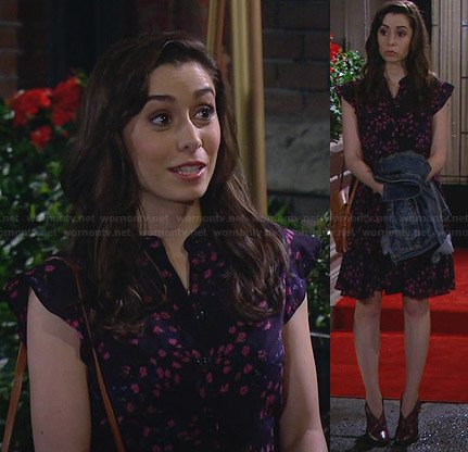 The Mother's blue and pink floral dress on How I Met Your Mother