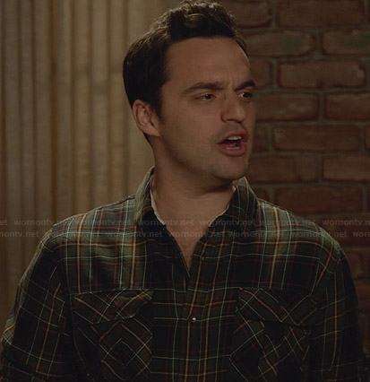 Nick's green plaid shirt on New Girl