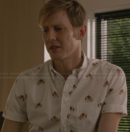 Nolan's leopard graphic shirt on Revenge