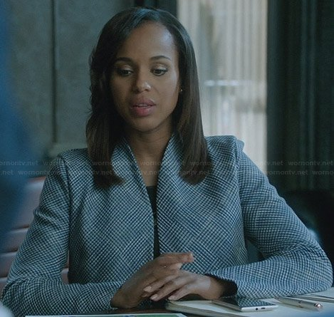 Olivia's checked jacket on Scandal