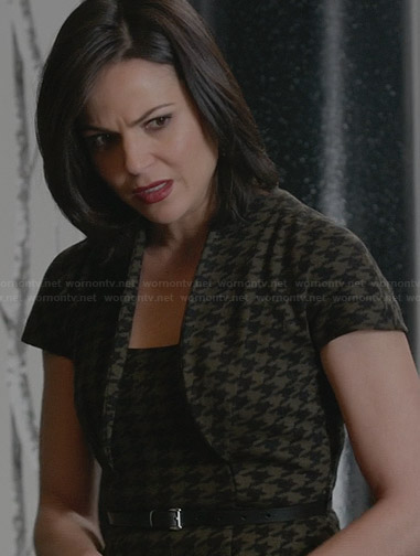 Regina's houndstooth dress on Once Upon a Time