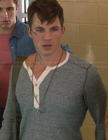 Roman's grey and white henley tee on Star-Crossed