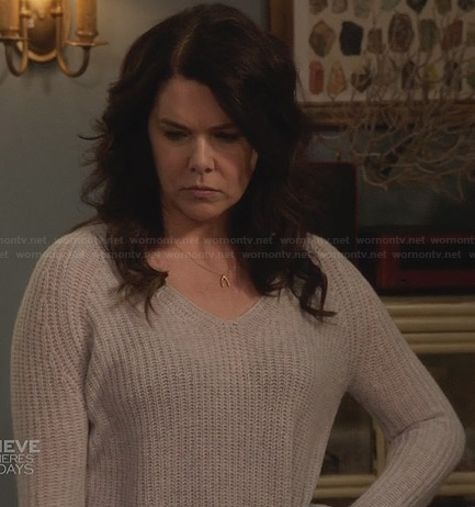 Sarah's grey knit sweater on Parenthood