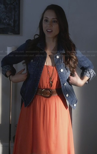 Spencer's orange high-low dress on PLL