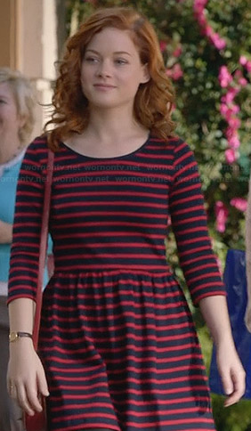 Tess's red striped dress on Suburgatory