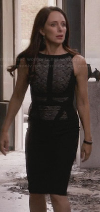 Victoria's black  lace panel dress on Revenge
