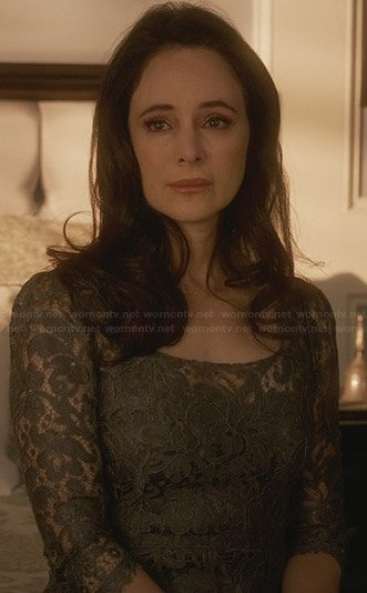 Victoria's grey lace dress on Revenge