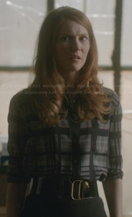 Abby's grey plaid shirt on Scandal