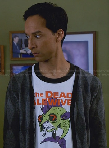 "Abed's ""The Dead Alewives"" tee on Community"