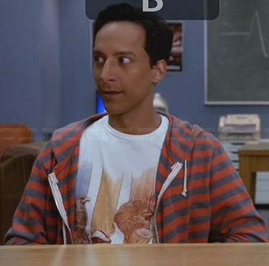 Abed's animal Harry Potter themed tee on Community