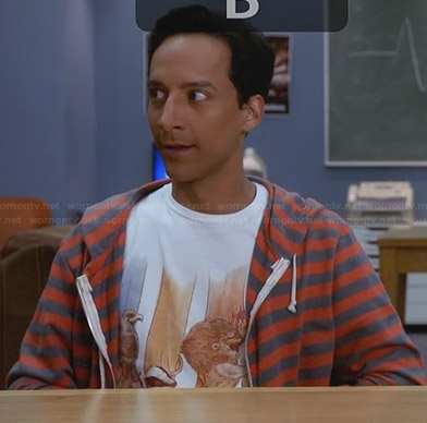Abed's animal graphic tee on Community