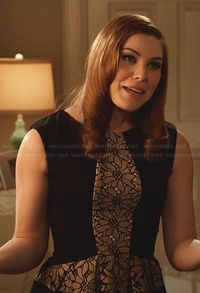 AnnaBeth's black lace inset dress on Hart of Dixie